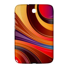 Abstract Colorful Background Wavy Samsung Galaxy Note 8 0 N5100 Hardshell Case