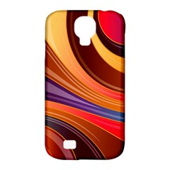 Abstract Colorful Background Wavy Samsung Galaxy S4 Classic Hardshell Case (pc+silicone)