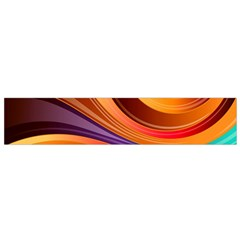 Abstract Colorful Background Wavy Small Flano Scarf by Nexatart