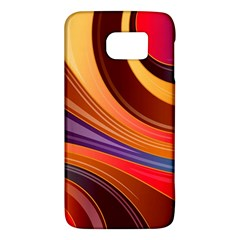 Abstract Colorful Background Wavy Galaxy S6