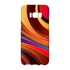 Abstract Colorful Background Wavy Samsung Galaxy S8 Hardshell Case