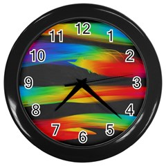 Colorful Background Wall Clocks (black)