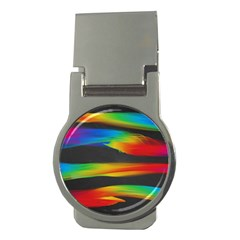 Colorful Background Money Clips (round)