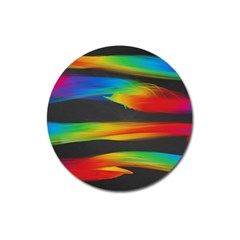 Colorful Background Magnet 3  (round)