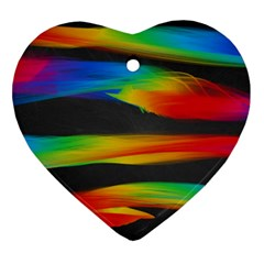Colorful Background Heart Ornament (two Sides)