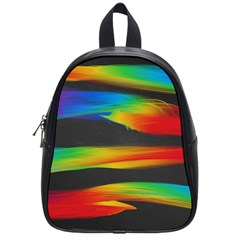 Colorful Background School Bag (small)