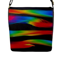 Colorful Background Flap Messenger Bag (l)