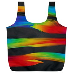 Colorful Background Full Print Recycle Bags (l)