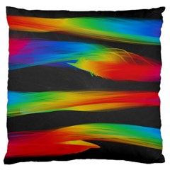 Colorful Background Standard Flano Cushion Case (two Sides)