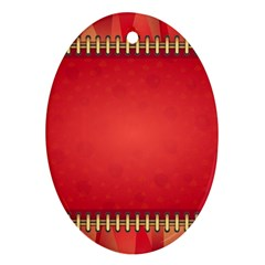 Background Red Abstract Ornament (oval)