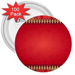 Background Red Abstract 3  Buttons (100 Pack)