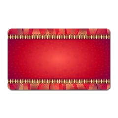 Background Red Abstract Magnet (rectangular)