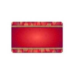 Background Red Abstract Magnet (name Card)
