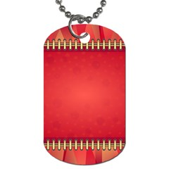 Background Red Abstract Dog Tag (two Sides)