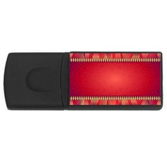 Background Red Abstract Rectangular Usb Flash Drive by Nexatart