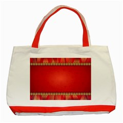 Background Red Abstract Classic Tote Bag (red)