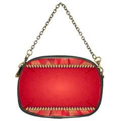 Background Red Abstract Chain Purses (two Sides)