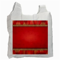 Background Red Abstract Recycle Bag (one Side)