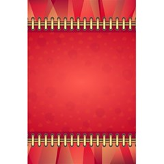 Background Red Abstract 5 5  X 8 5  Notebooks