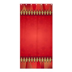 Background Red Abstract Shower Curtain 36  X 72  (stall)
