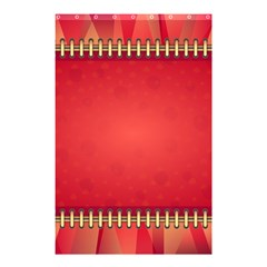 Background Red Abstract Shower Curtain 48  X 72  (small)