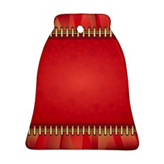 Background Red Abstract Bell Ornament (two Sides)