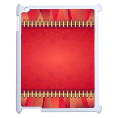 Background Red Abstract Apple Ipad 2 Case (white)
