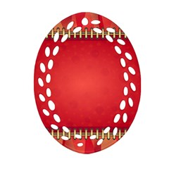 Background Red Abstract Ornament (oval Filigree)