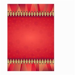 Background Red Abstract Small Garden Flag (two Sides)