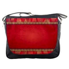 Background Red Abstract Messenger Bags