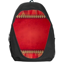 Background Red Abstract Backpack Bag