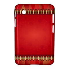 Background Red Abstract Samsung Galaxy Tab 2 (7 ) P3100 Hardshell Case