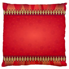 Background Red Abstract Standard Flano Cushion Case (one Side)