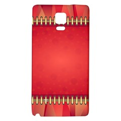 Background Red Abstract Galaxy Note 4 Back Case