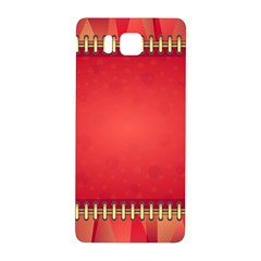 Background Red Abstract Samsung Galaxy Alpha Hardshell Back Case