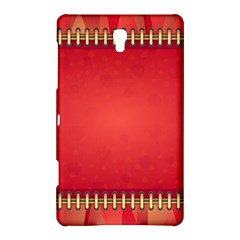 Background Red Abstract Samsung Galaxy Tab S (8 4 ) Hardshell Case