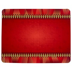 Background Red Abstract Jigsaw Puzzle Photo Stand (rectangular)