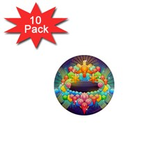 Badge Abstract Abstract Design 1  Mini Magnet (10 Pack)