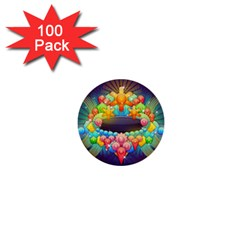 Badge Abstract Abstract Design 1  Mini Buttons (100 Pack)