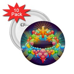 Badge Abstract Abstract Design 2 25  Buttons (10 Pack)  by Nexatart