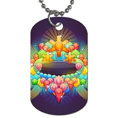 Badge Abstract Abstract Design Dog Tag (two Sides)