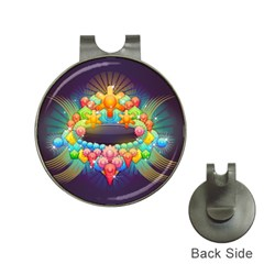 Badge Abstract Abstract Design Hat Clips With Golf Markers