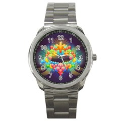 Badge Abstract Abstract Design Sport Metal Watch