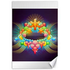 Badge Abstract Abstract Design Canvas 20  X 30