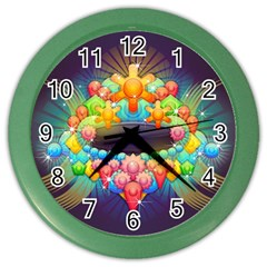 Badge Abstract Abstract Design Color Wall Clocks