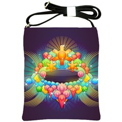 Badge Abstract Abstract Design Shoulder Sling Bags