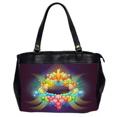 Badge Abstract Abstract Design Office Handbags (2 Sides)