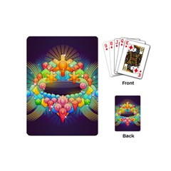 Badge Abstract Abstract Design Playing Cards (mini)