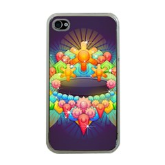 Badge Abstract Abstract Design Apple Iphone 4 Case (clear)
