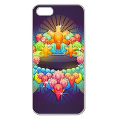 Badge Abstract Abstract Design Apple Seamless Iphone 5 Case (clear)